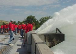 Tourists at hydro